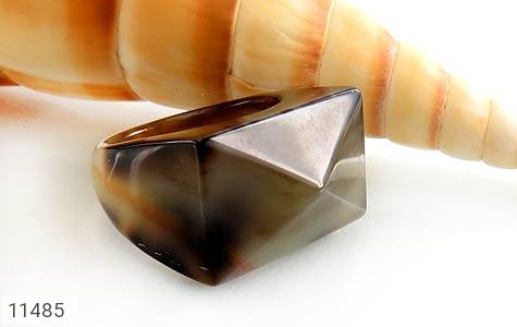 انگشتر عقیق حلقه سنگی تراش زنانه - عکس 5