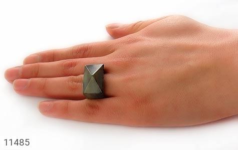 انگشتر عقیق حلقه سنگی تراش زنانه - تصویر 6