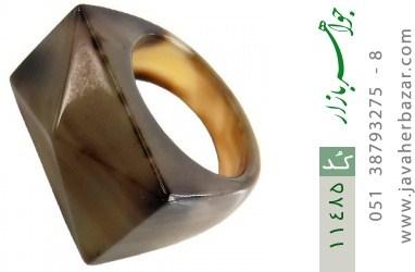 انگشتر عقیق حلقه سنگی تراش زنانه - کد 11485