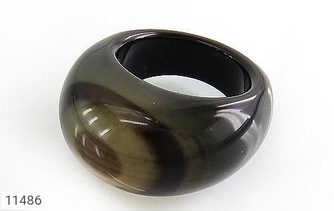 انگشتر عقیق حلقه سنگی خوش نقش زنانه - عکس 1