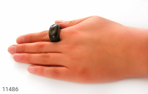 انگشتر عقیق حلقه سنگی خوش نقش زنانه - تصویر 8