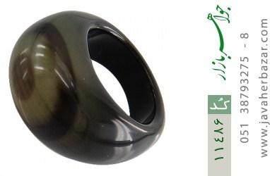 انگشتر عقیق حلقه سنگی خوش نقش زنانه - کد 11486