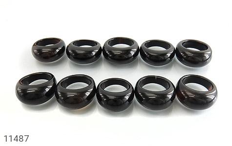 انگشتر عقیق سیاه حلقه سنگی زنانه - تصویر 8