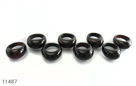 انگشتر عقیق سیاه حلقه سنگی زنانه - عکس 9