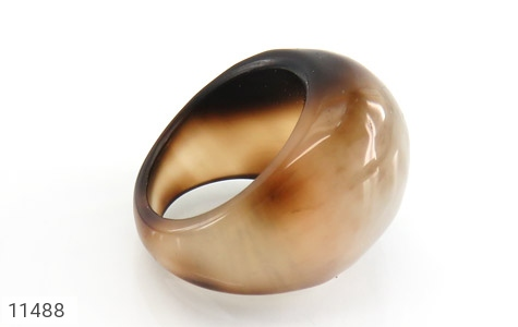 انگشتر عقیق حلقه سنگی طرح خاص زنانه - عکس 3