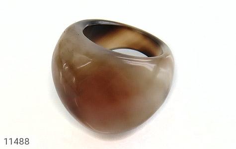 انگشتر عقیق حلقه سنگی طرح خاص زنانه - تصویر 8