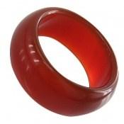 انگشتر عقیق قرمز حلقه سنگی زنانه