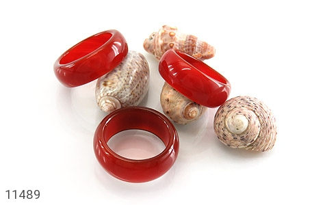 انگشتر عقیق قرمز حلقه سنگی زنانه - عکس 3