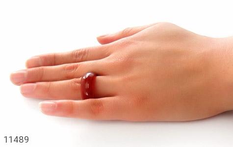 انگشتر عقیق قرمز حلقه سنگی - عکس 5