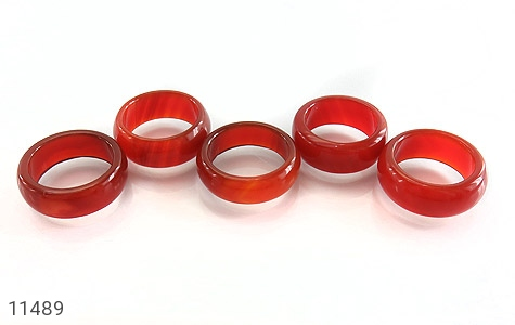 انگشتر عقیق قرمز حلقه سنگی زنانه - عکس 7