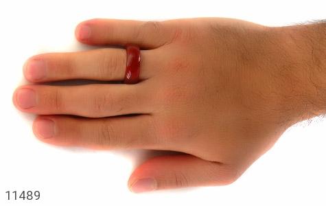 انگشتر عقیق قرمز حلقه سنگی - تصویر 8