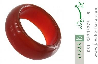 انگشتر عقیق قرمز حلقه سنگی - کد 11489