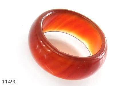 انگشتر عقیق قرمز رینگ سنگی زنانه - عکس 1