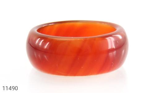 انگشتر عقیق قرمز رینگ سنگی زنانه - تصویر 2