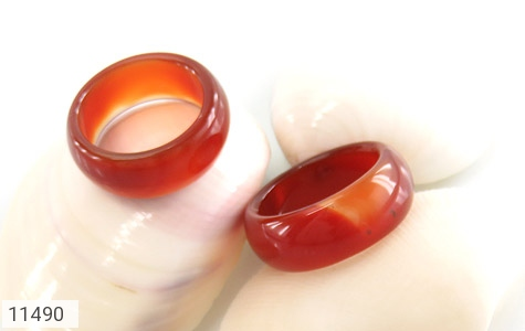 انگشتر عقیق قرمز رینگ سنگی زنانه - عکس 3