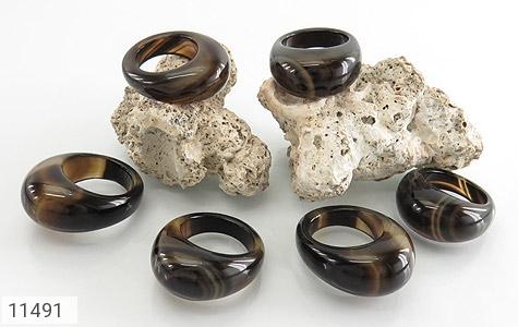 انگشتر عقیق حلقه سنگی زیبا زنانه - عکس 5