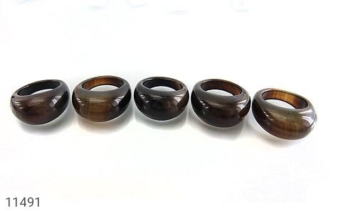 انگشتر عقیق حلقه سنگی زیبا زنانه - تصویر 8
