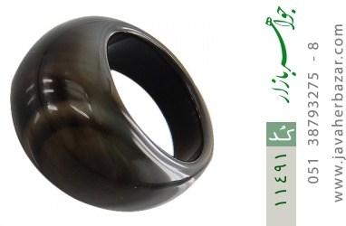 انگشتر عقیق حلقه سنگی زیبا زنانه - کد 11491