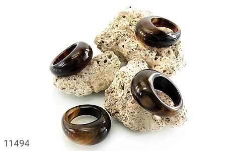 انگشتر عقیق حلقه سنگی درشت و جذاب زنانه - عکس 7