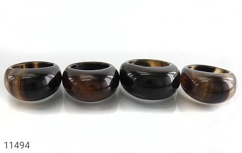 انگشتر عقیق حلقه سنگی درشت و جذاب زنانه - عکس 9