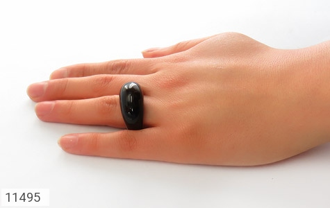 انگشتر عقیق حلقه سنگی درشت و شیک زنانه - عکس 7