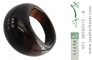 انگشتر عقیق حلقه سنگی درشت و شیک زنانه - کد 11495