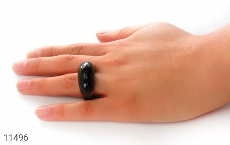 انگشتر عقیق حلقه سنگی درشت - عکس 7