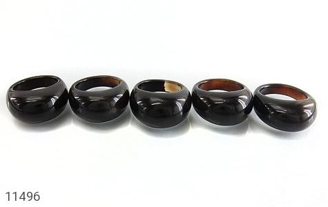 انگشتر عقیق حلقه سنگی درشت - تصویر 8