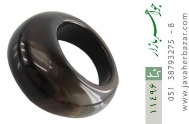انگشتر عقیق حلقه سنگی درشت زنانه - کد 11496