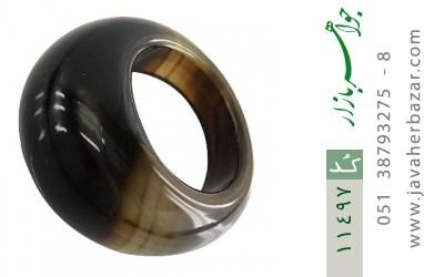 انگشتر عقیق حلقه سنگی شیک زنانه - کد 11497