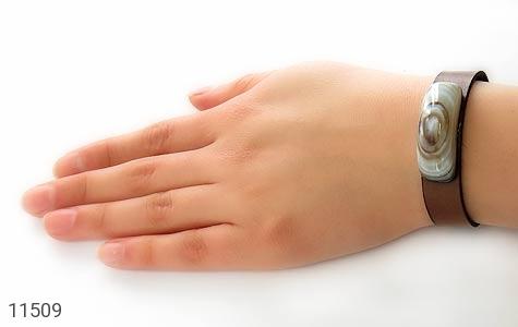 دستبند چرم و عقیق باباقوری خوش نقش - تصویر 8