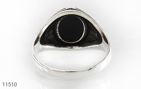 انگشتر عقیق سیاه جذاب مردانه - تصویر 4