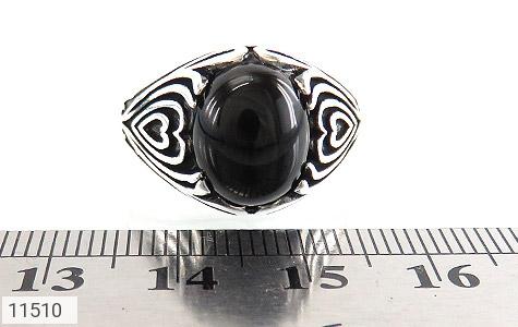 انگشتر عقیق سیاه جذاب مردانه - تصویر 6
