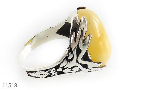 انگشتر عقیق زرد خوش رنگ مردانه - عکس 3