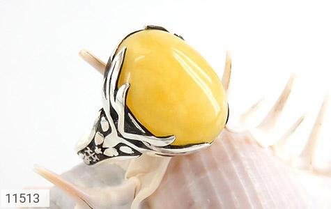 انگشتر عقیق زرد خوش رنگ مردانه - عکس 5