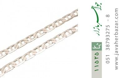 زنجیر نقره 55 سانتی درشت مردانه - کد 11525