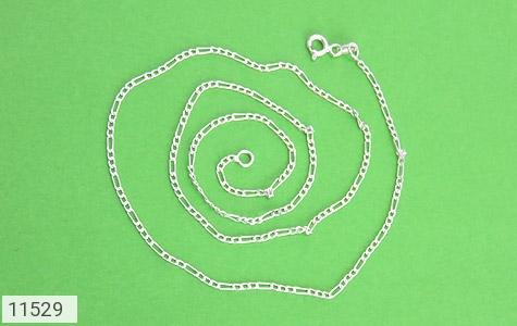 زنجیر نقره طرح اسپرت 45 سانتی - عکس 1