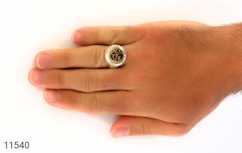 انگشتر نقره قلم زنی یا حسین هنر دست استاد شرفیان - عکس 7