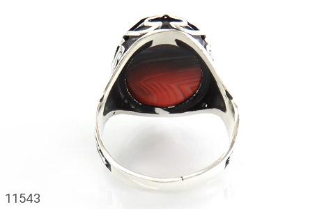 انگشتر عقیق خوش رنگ و درشت مردانه - تصویر 2