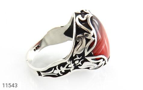 انگشتر عقیق خوش رنگ و درشت مردانه - عکس 3