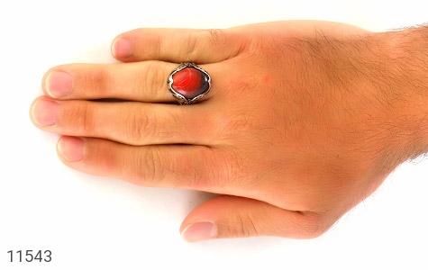 انگشتر عقیق خوش رنگ و درشت مردانه - تصویر 6