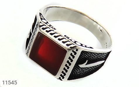 انگشتر عقیق قرمز طرح آوا مردانه - عکس 1