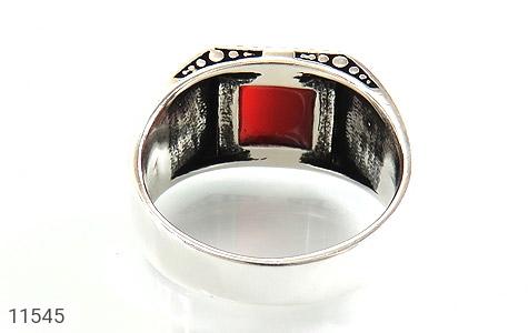 انگشتر عقیق قرمز طرح آوا مردانه - تصویر 4