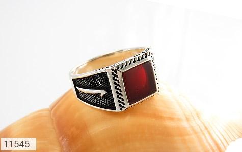 انگشتر عقیق قرمز طرح آوا مردانه - عکس 5
