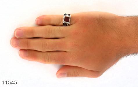 انگشتر عقیق قرمز طرح آوا مردانه - عکس 7