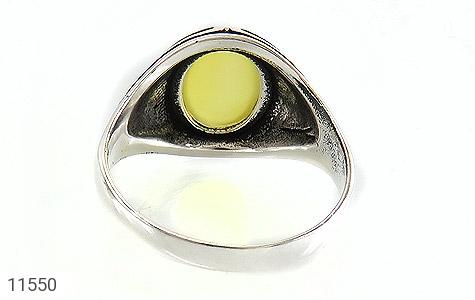 انگشتر عقیق زرد طرح قلب مردانه - تصویر 4