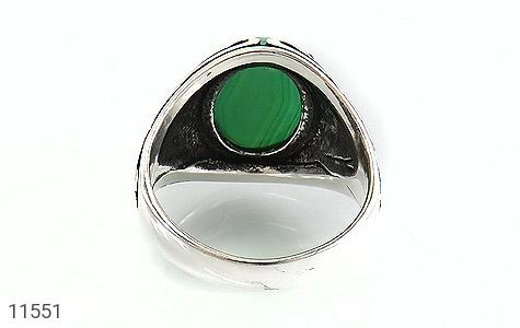 انگشتر عقیق سبز طرح قلب مردانه - تصویر 4