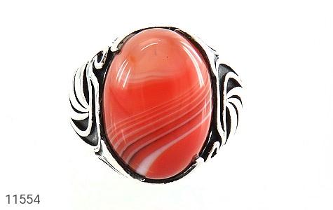 انگشتر عقیق قرمز طرح ابروبادی خاص مردانه - تصویر 2