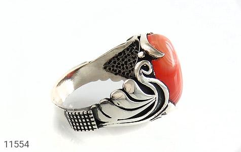 انگشتر عقیق قرمز طرح ابروبادی خاص مردانه - عکس 3
