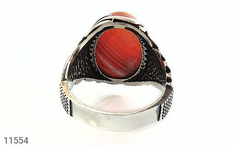 انگشتر عقیق قرمز طرح ابروبادی خاص مردانه - تصویر 4